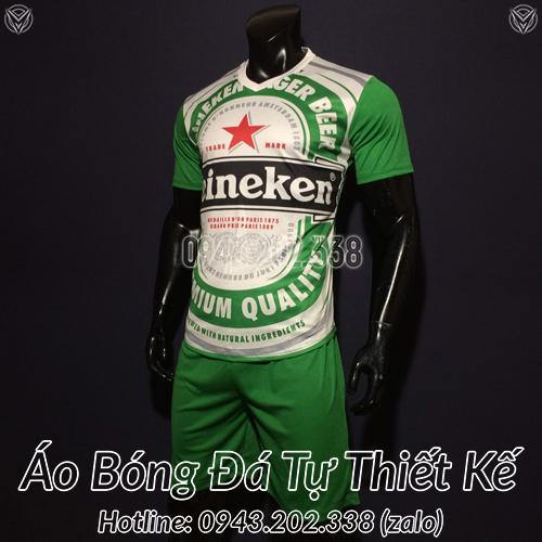 Áo Không Logo Bia HeineKen Xanh Lá