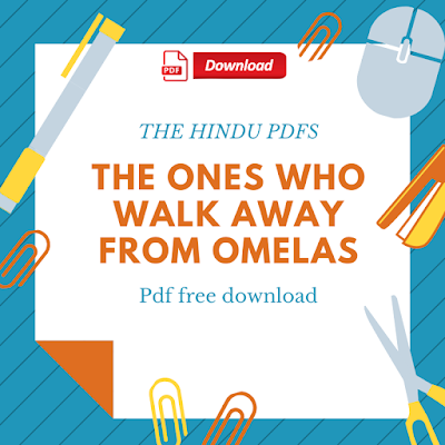 The Ones Who Walk Away From Omelas Pdf Free Download