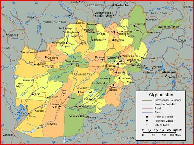 Gambar Peta Afghanistan