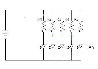rangkaian LED Paralel