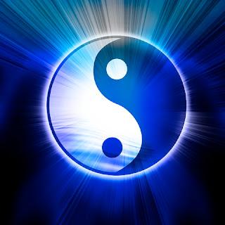 Yin e Yang dos lados da mesma moeda