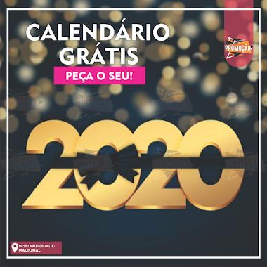 Brindes Grátis - Calendário 2020 Olhe fundo nesse olhar