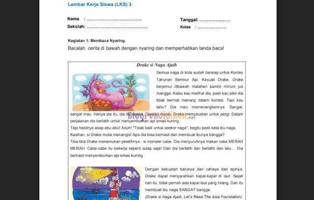 Lembar Kerja Siswa (LKS) Belajar Dari Rumah Kelas 1 - 6 SD