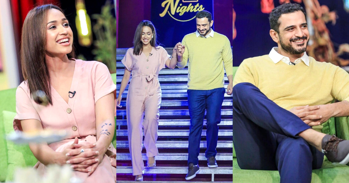 Faryal Mehmood with her Husband Daniyal Raheal Pictures from Bol Nights