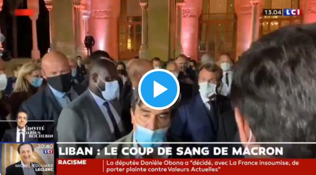 VIDÉO : Au Liban, Emmanuel Macron réprimande un journaliste qui évoque sa rencontre avec le Hezbollah