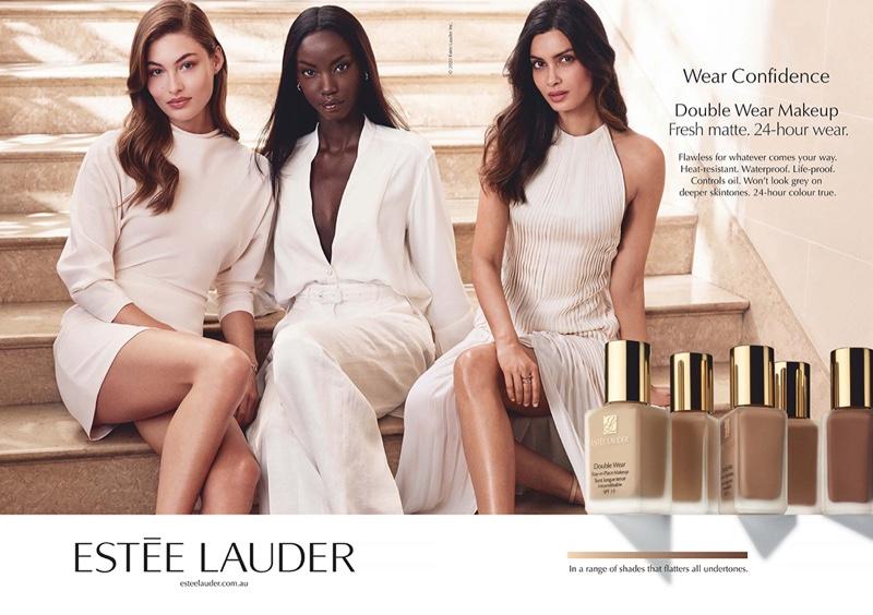 Grace, Anok, Carolyn Captivate in Estee Lauder 'Double Wear' Campaign