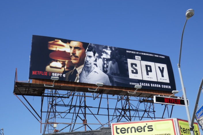 The Spy Netflix series billboard