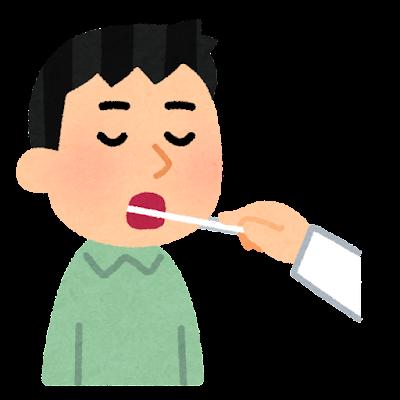検体採取のイラスト(喉)