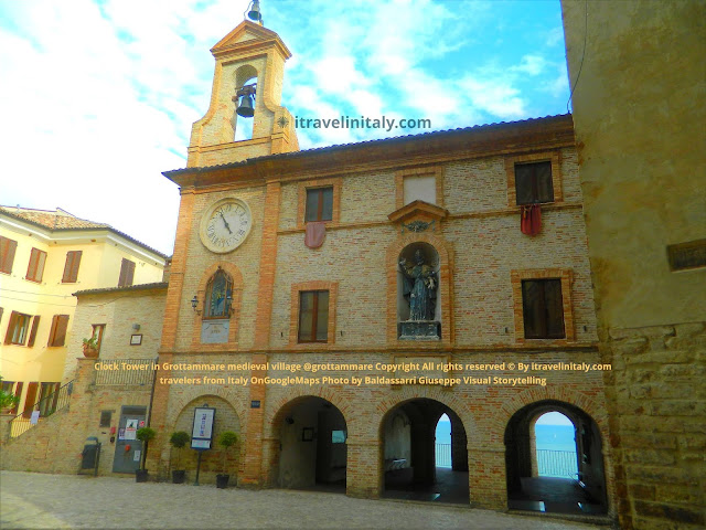 Clock Tower in Grottammare medieval village @grottammare Copyright All rights reserved © By itravelinitaly.com travelers from Italy OnGoogleMaps Photo by Baldassarri Giuseppe Visual Storytelling