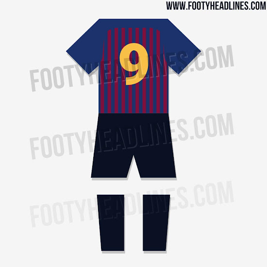 innovative design f3ffd a3cf5 Nike FC Barcelona 18-19 Home Kit Leaked + Away & Third Kit ...