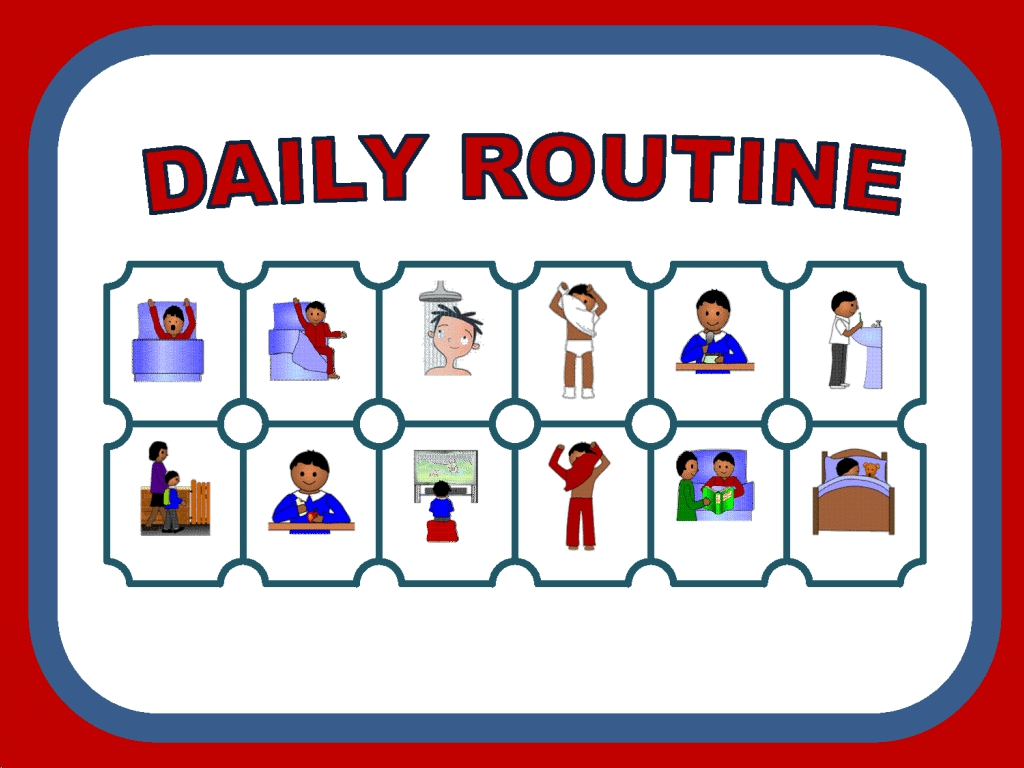 Learneng: Dialogue between two friends about daily routine