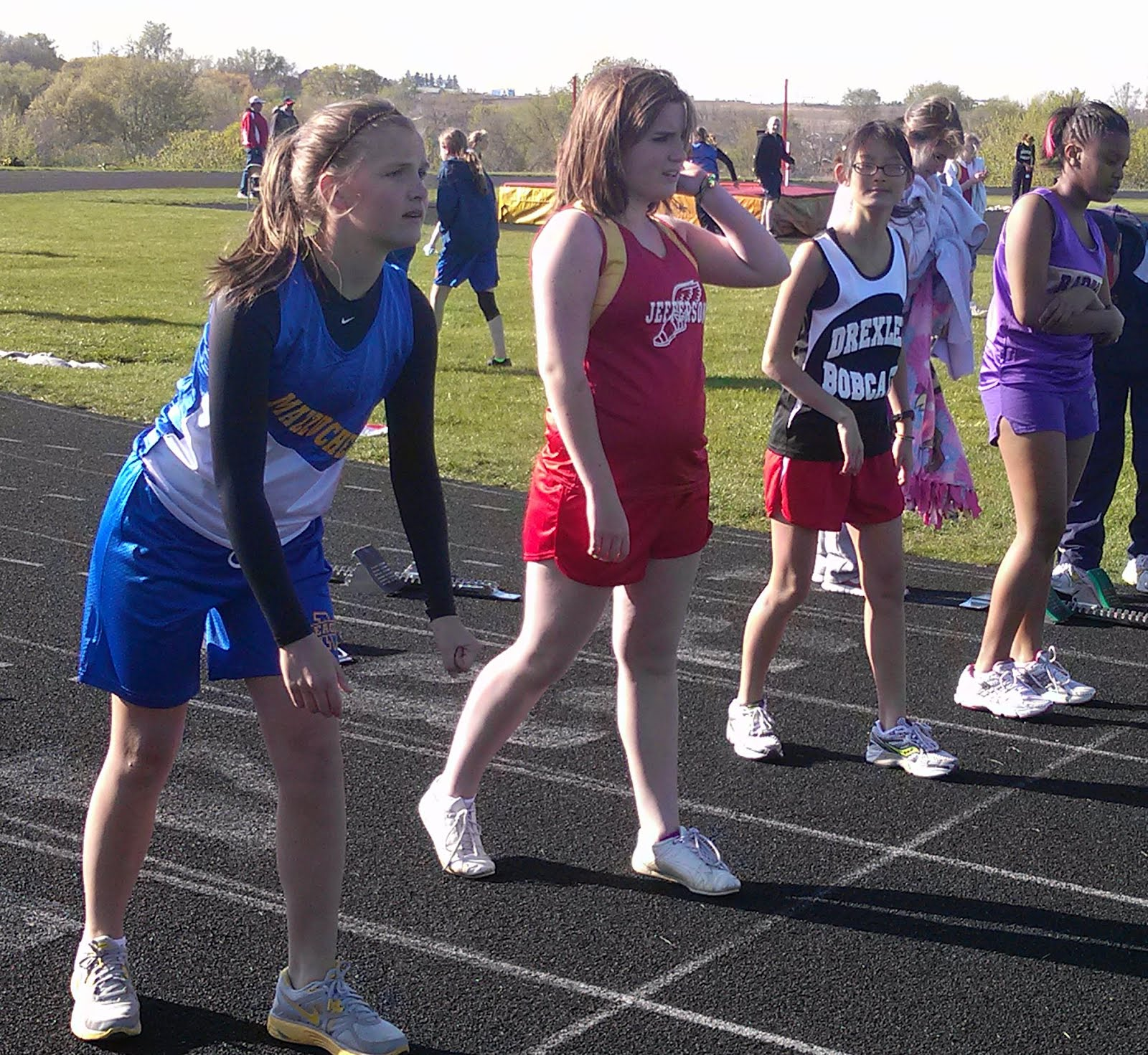 7cecea127941d6 Keep moving, and you could withstand the 30-degree wind-chill readings at  yesterday's MIDDLE SCHOOL GIRLS TRACK MEET.