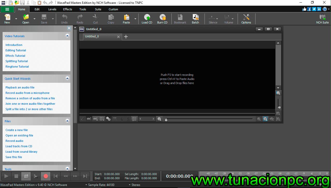 WavePad Sound Editor Masters Full Español