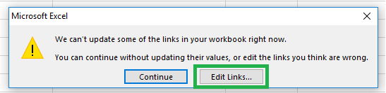 Solved] Unable to Break External Links in Excel