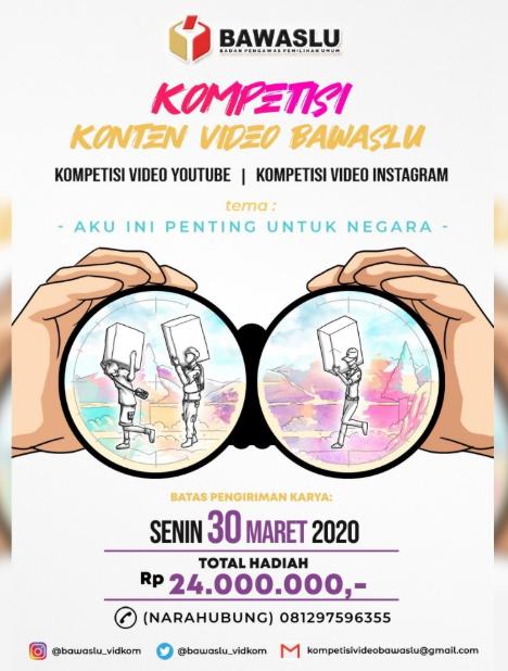 [GRATIS] Kompetisi Konten Video Bawaslu 2020