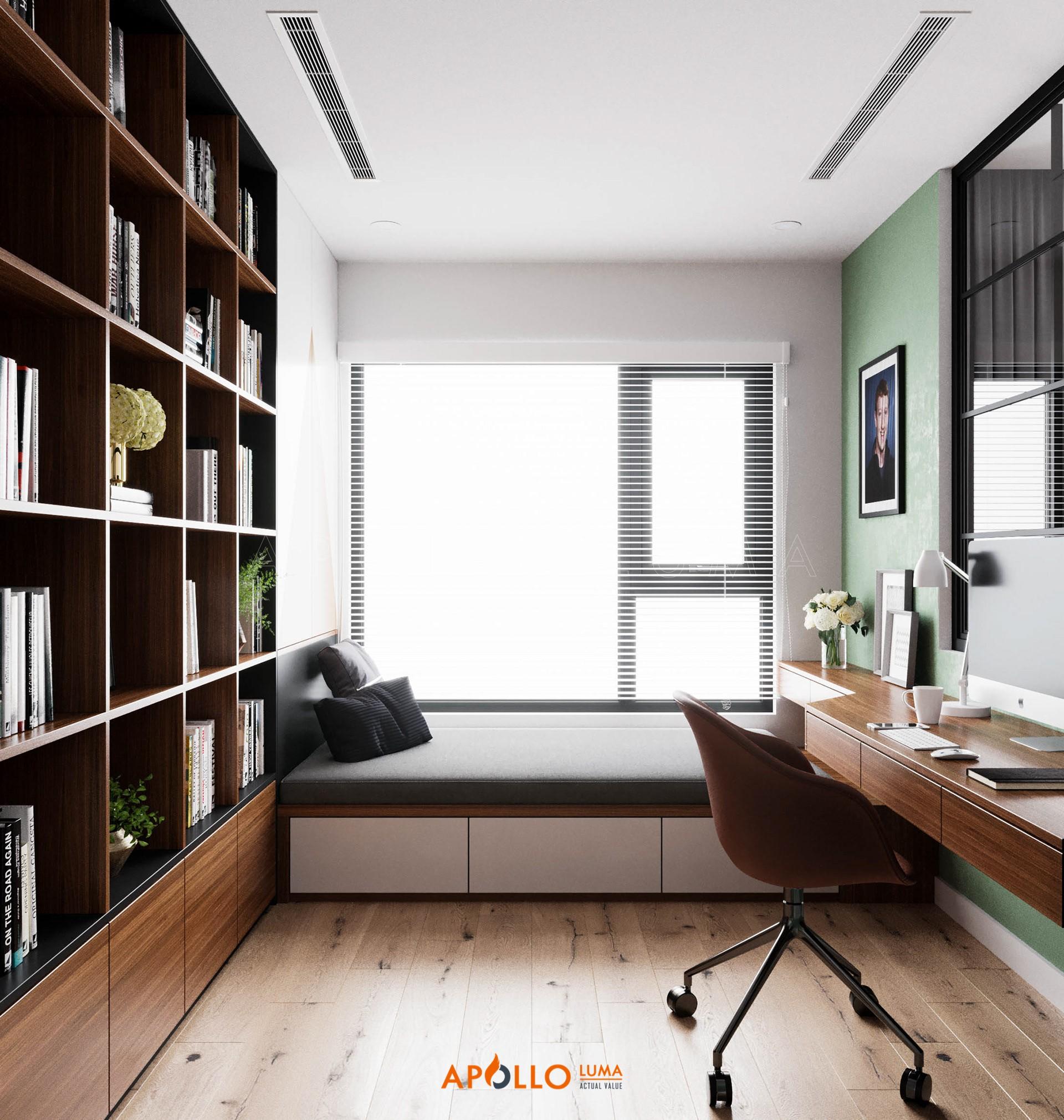 Thiết kế nội thất căn 2PN+1 (65m2) S1.10-05 Vinhomes Ocean Park