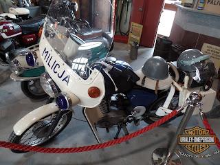 Milicja polska MZ motocykl MZ ETZ 250 польской милиции