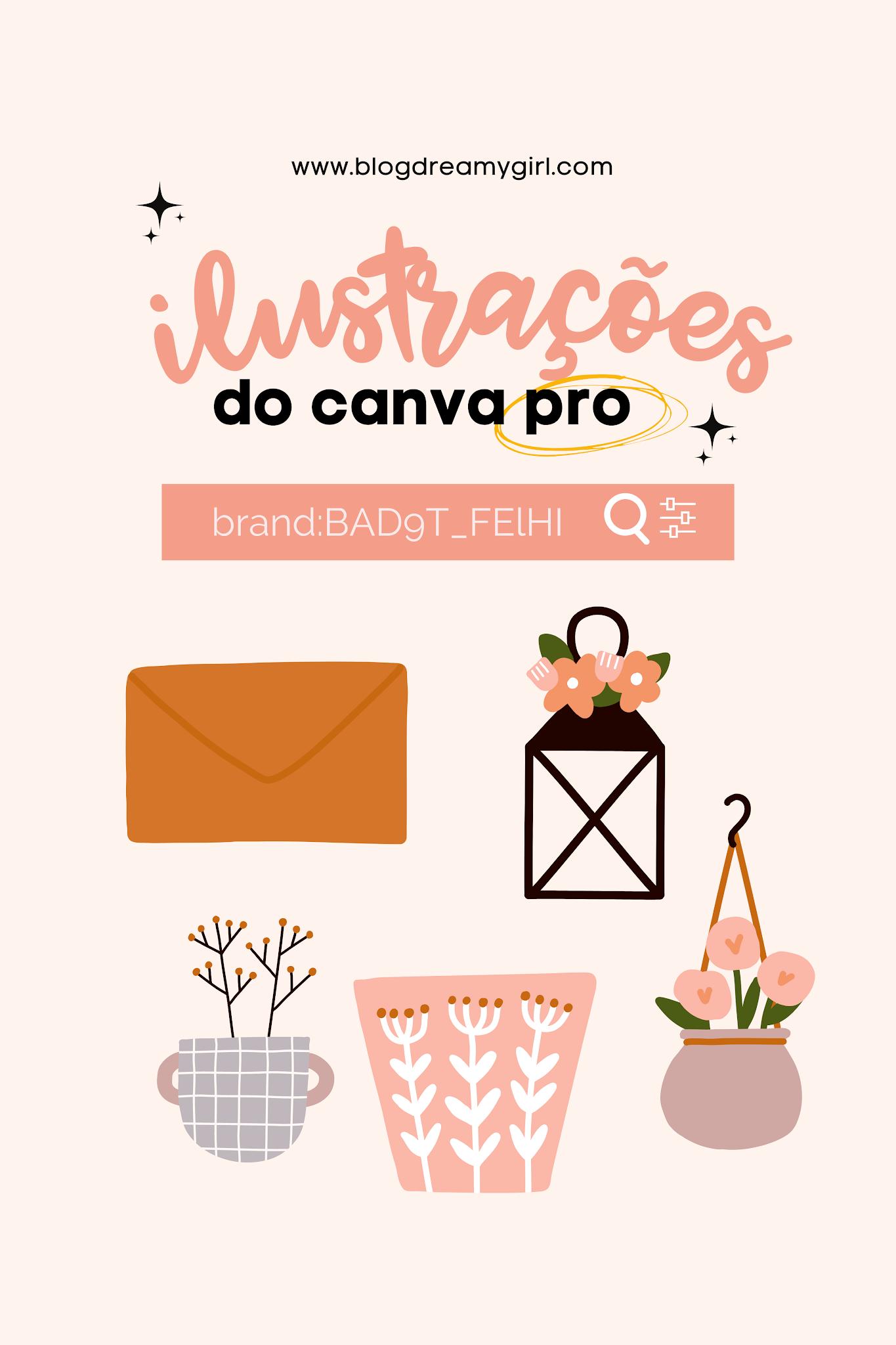 Ilustrações do Canva Pro