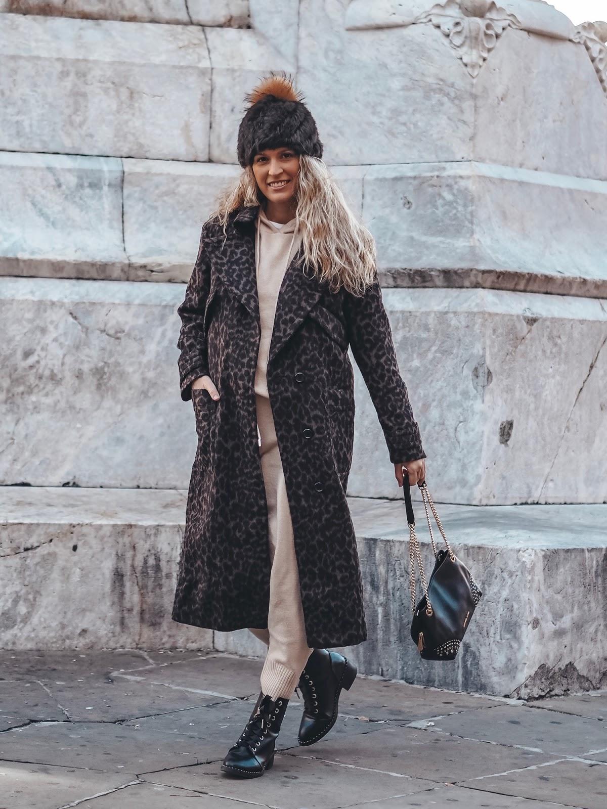 abrigo leopardo largo