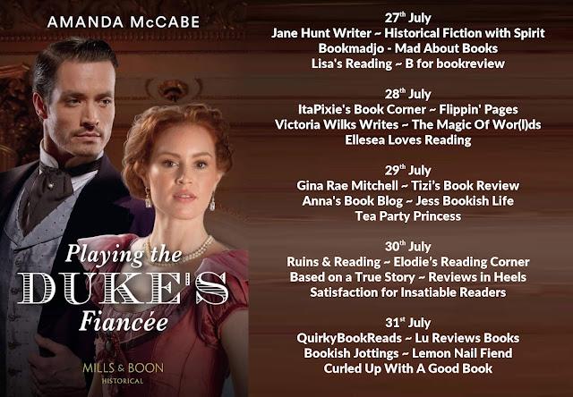 Playing the Duke's Fiancée by Amanda McCabe blog tour banner