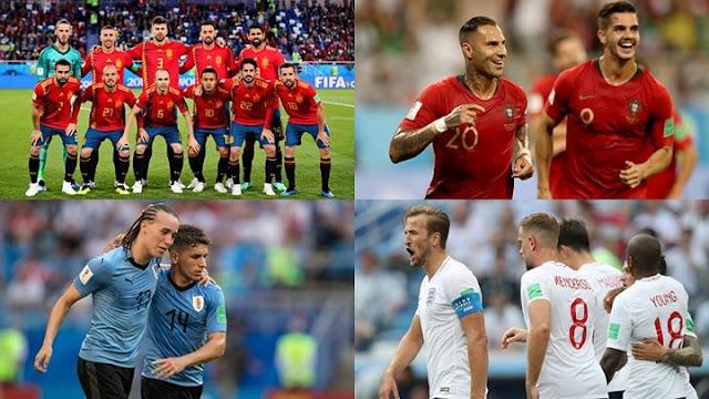 8 đội bóng tham dự tứ kết, 4 chiếc vé đi tiếp World Cup thuộc về ai?