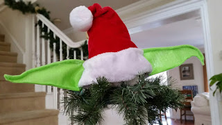 Christmas Decor Star Wars DIY Santa Yoda Hat for Under $5 Tree Topper