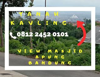 Tanah kavling dekat Borma Cinunuk view Masjid Apung Bandung