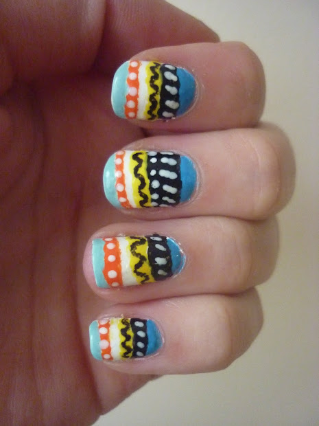 guest post - aztec inspired nails