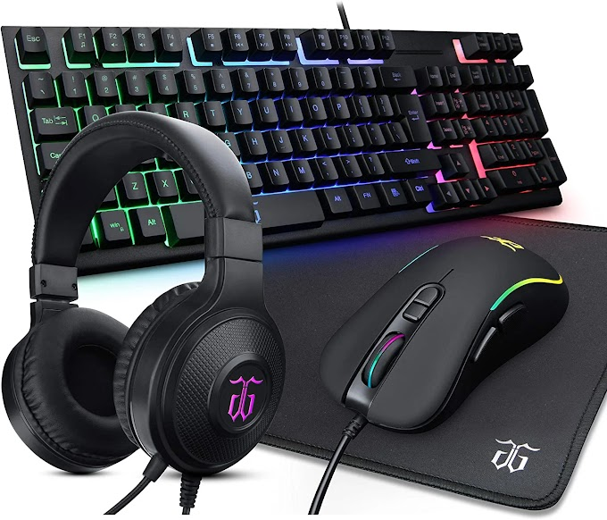 DGG ST-KM6 Wired RGB Backlit Gaming Keyboard and Mouse