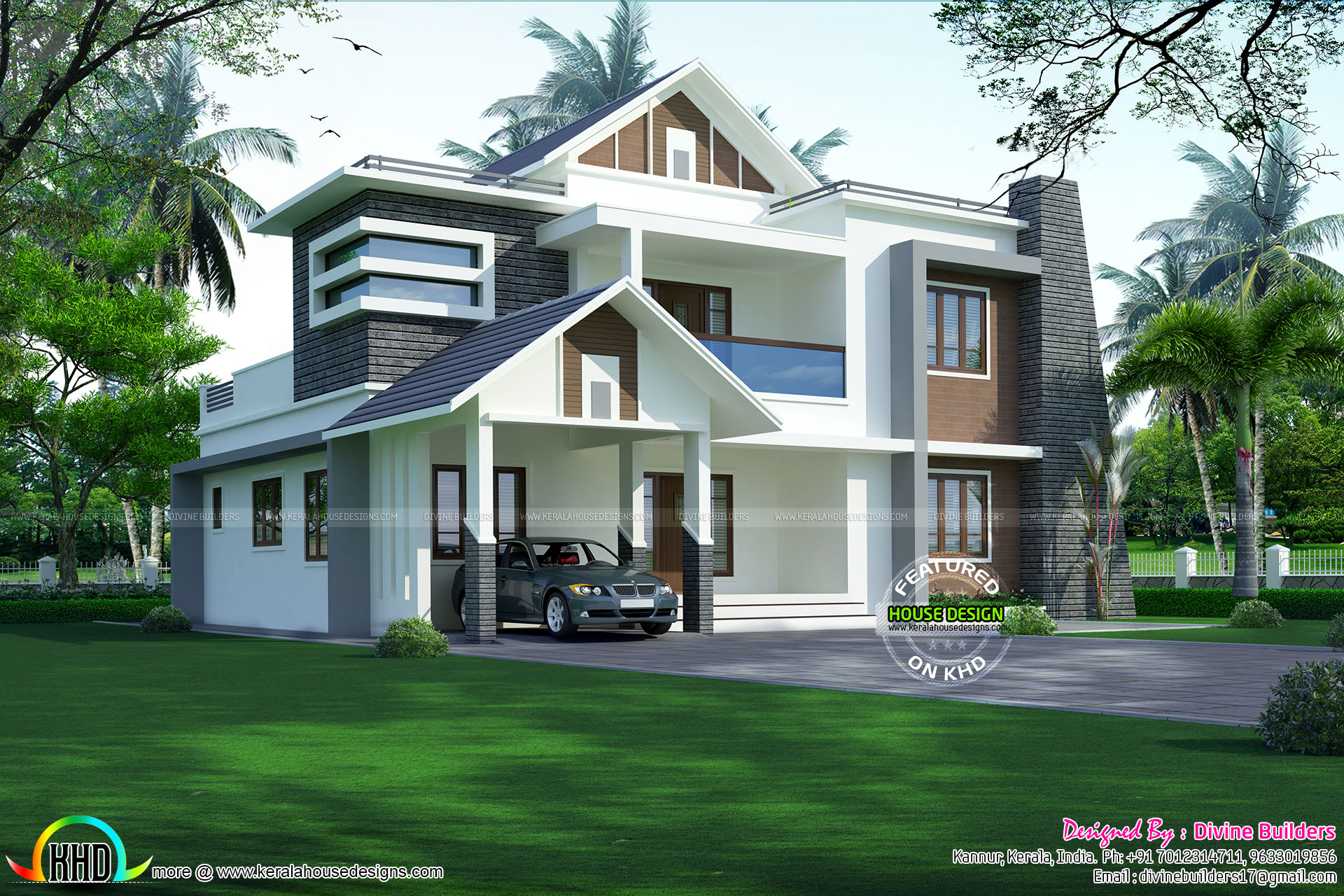 50 lakhs cost estimated 5 bedroom home kerala home for House plans with estimated cost to build in kerala