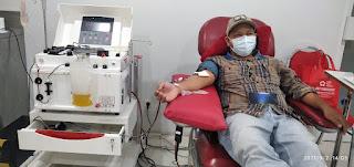 Polisi Penyintas Covid-19 Donor Plasma Konvalesen