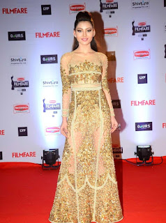 Urvashi Rautela in Golden Dress at Filmfare Awards