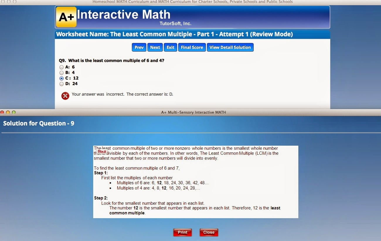A Learning Journey: TOS Review: A+ Interactive Math Adaptive