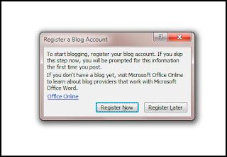 MS Office 2007 में Blog Post कैसे लिखें ?