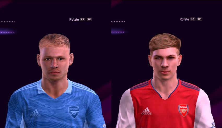 Aaron Ramsdale & Emile Smith Rowe Face For PES 2013