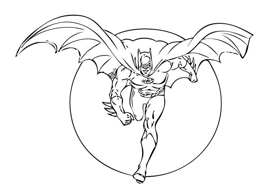 Batman Coloring Pages Free Printable Pictures