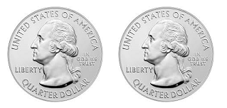 Two unbiased coins
