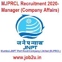MJPRCL Recruitment 2020- Manager (Company Affairs)