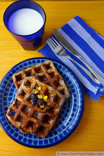 http://www.farmfreshfeasts.com/2013/07/sweet-corn-and-blueberry-waffles.html