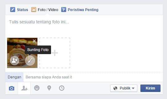 Menggunakan Tool (Alat) Foto Editor Facebook