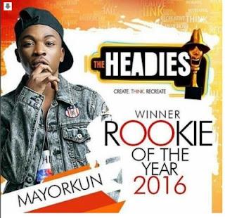 headies 2016 rookie of the year award