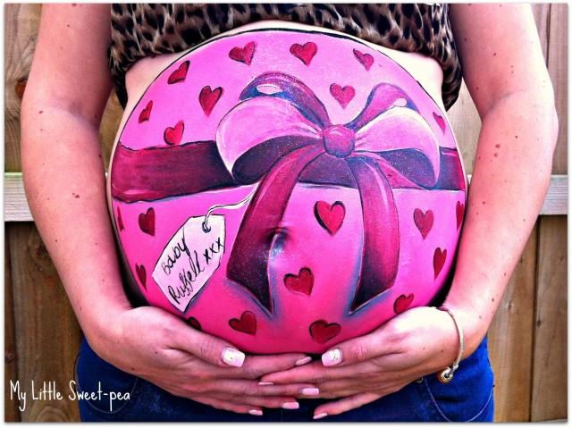 Pregnant Belly Artworks seni melukis perut wanita hamil yang keren-7