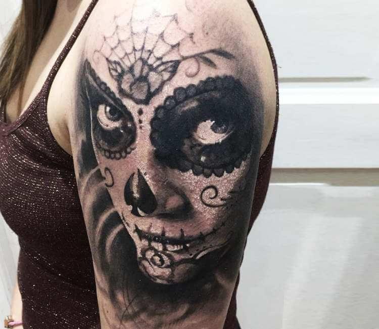 Tatuaje de una catrina