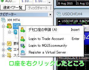 MT4ナビゲーター画面