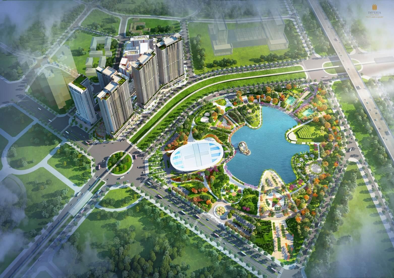 Phối cảnh dự án căn hộ cao cấp Imperia Eden Park Mễ Trì