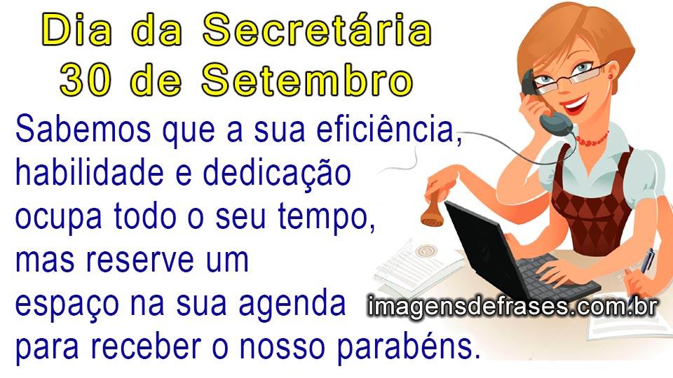Frases Do Dia Da Secretária 30 De Setembro Frases E Mensagens