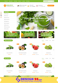 Template blogspot bán hàng trái cây rau quả tươi mát, VSM20