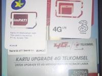 Upgrade 4G Telkomsel XL Tri Online Sendiri