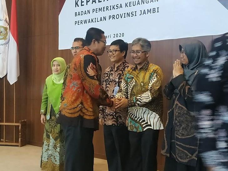 Sekda Munasri Wakili Wali Kota Hadiri Sertijab Kepala BPK RI Perwakilan Jambi