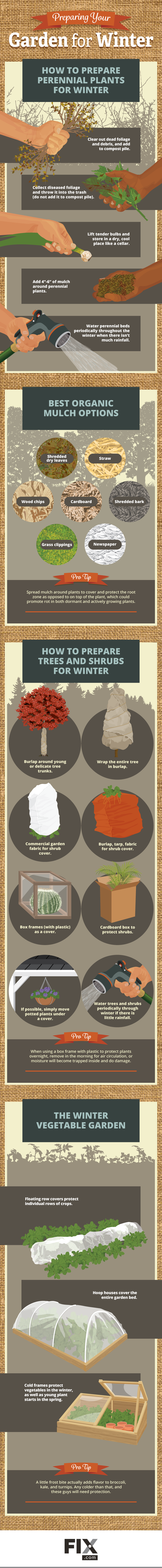 Preparing Your Garden For Winter #Infographic